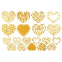 Sır Üstü Dekal Altın Heart...
