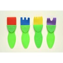 4 lü Desen Fırça Seti Küçük...