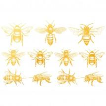 Sır Üstü Dekal Gold Bee...