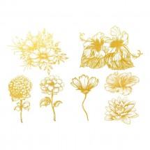 Sır Üstü Dekal Gold Flower...