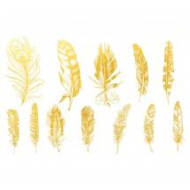 Sır Üstü Dekal Gold feather...