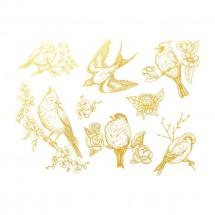 Sır Üstü Dekal Gold Birds 1...