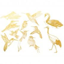 Sır Üstü Dekal Gold Birds 2...