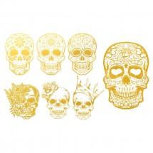 Sır Üstü Dekal Gold Skull...