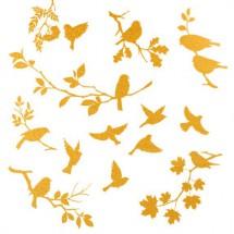 Sır Üstü Dekal Altın Birds...
