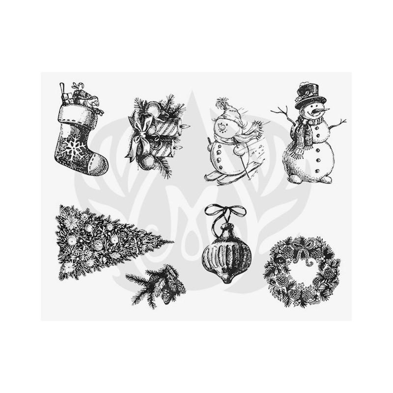 DSS-106 Winter/Holiday Mayco Designer Silk Screen - İpek Baskı (Serigrafi) 30x38 cm Yılbaşı
