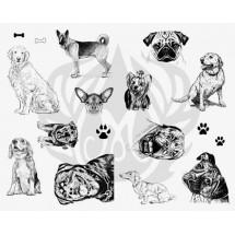 DSS-119 Dogs Mayco Designer Silk Screen - İpek Baskı (Serigrafi) 30x38 cm Köpekler